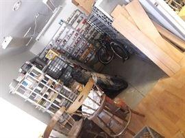 All bolt bins for sale Desks,antique saddles ,air compressor