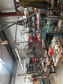 All shop fans , lights and shelving is for sale