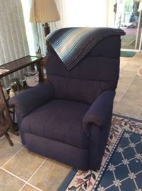 Rocker recliner, area rug