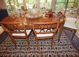 Mid Century Modern dining table with 6 chairs