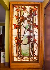 BUY IT NOW!  Lot #100, Large Antique Stained / Leaded Glass Window from New Orleans Mansion on St. Charles Ave., $2,500 (has one small hair-line crack)