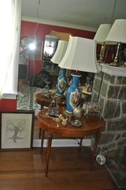 Pair of Lamps and Pair of Tables