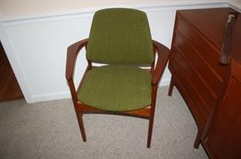 Dining room chair.  Family said the upholstery is original from the 1960's when their parents purchased them