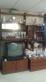 Three AMAZING MCM WALL UNITS brought here from Germany in the early 70's.each one being different!!this has a bar.