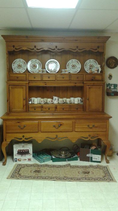 large Vintage Country Sideboard/buffet. This piece makes a statement!!