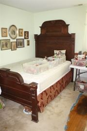 East Lake style bed converted to queen size