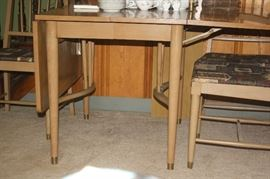 Legs of mid century drop leaf table
