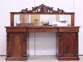 #6J c1900 mahogany Victorian sideboard