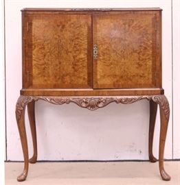 c.1900 walnut cocktail cabinet