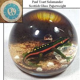 Art Ysart Paul Salamander Paperweight