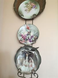 Decor and hand painted plates