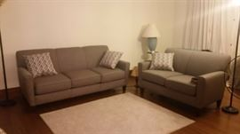 Living room sofa and loveseat, purchased new in July 2016, like-new condition