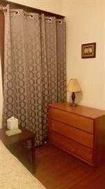 Several dressers, lamps, drape sets, etc.