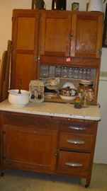 hoosier cabinet with flour bin