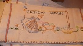 needle hand work dish towles