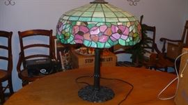 stained leaded glass lamp  very nice