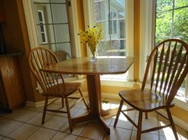 Small table with two matching chairs - great for your first apartment!