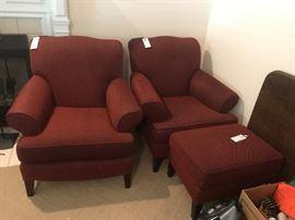 #12 Califorian Co stool $30                                            #11  (2) red Californa Co chairs $75 ea