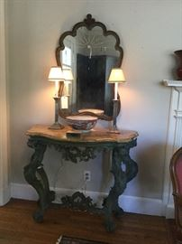 18th Century console table with fine stone top