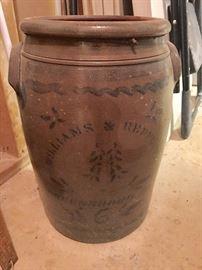 19thC. Williams and Reppert six-gallon crock