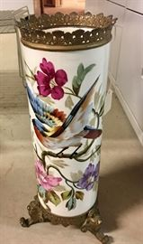 19thC. hand-painted vase