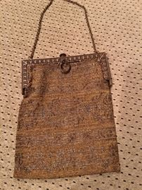 Collection of vintage and antique beaded and mesh bags (see following photos)