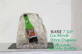 7 Up Promotional Ice Block Store Display