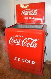 Coca cola Junior with Embossed Lid Cooler Honesty Machine Red with White letters