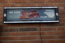 Original Pepsi Neon Deco Lighted Sign 1930s