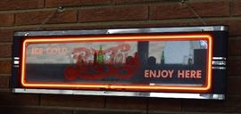 RARE Pepsi Neon Art Deco1930s Lighted Sign