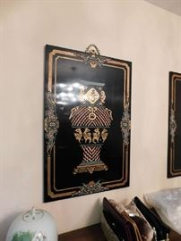 Pair of Stunning lacquer plaques, approx 4Ft. x 3Ft.