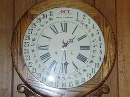 Wonderful detail on DEC antique wall clock