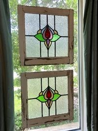Salvaged Antique Stained Glass Windows.