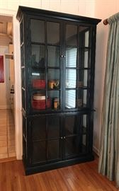 Glossy Black with Glass China Cabinet