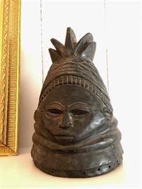African Carved Head or Helmet