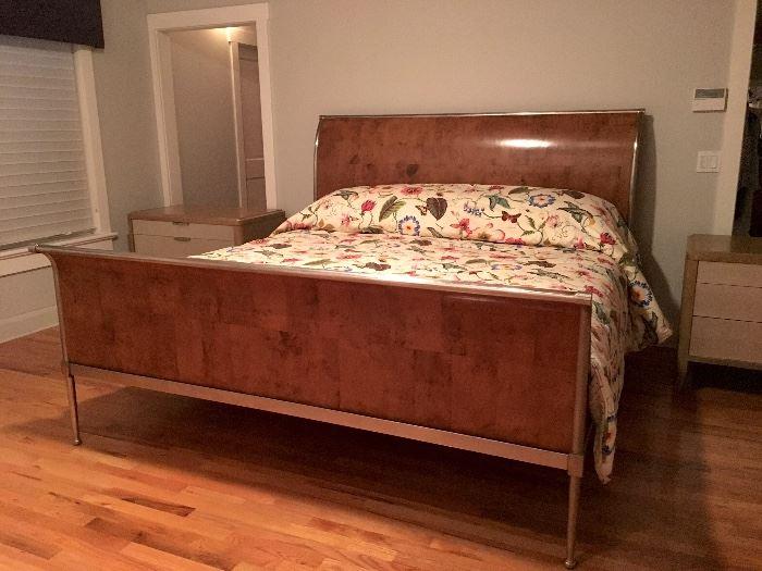 King Sleigh Bed with Tempurpedic Mattress
