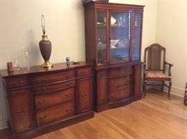 Duncan Phyfe China Cabinet and Buffet