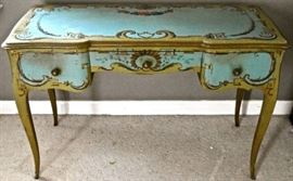 Fabulous Antique French Hand-painted Writing Desk