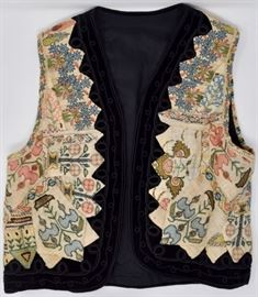 Hand-Embroidered and metallic embellished vest