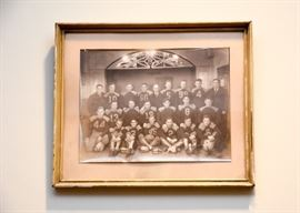 Antique Photo (Football Players), Framed