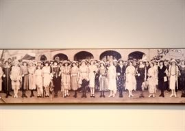 Panoramic Group Photo (Women), Reproduction on Board