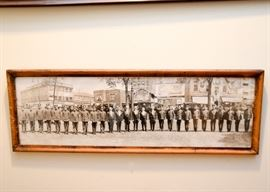 Antique Panoramic Group Photo, Framed