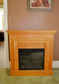 "BUY IT NOW!  Lot 102, Electric Fireplace, $180 (Approx. 42"" L x 13.5"" W x 40"" H)"