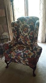Floral wingback chair - $90