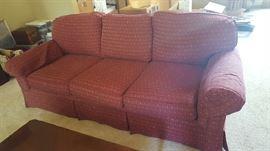 Burgandy sofa - $150