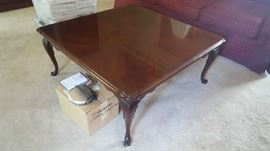 Square wood cocktail table - $75
