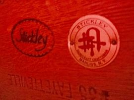 Stickley Craftsman Oak Side Table w/ Tile Inlay (20'' x 24'' x 27'')