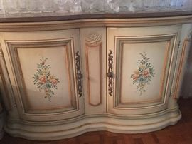 Antique Marie Antoinette Style French Painted Buffet / Console