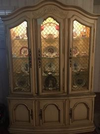 Classic Painted French Armoire, Fine China, Bone China, French China, Bavaria Germany china, Austrian Crystal