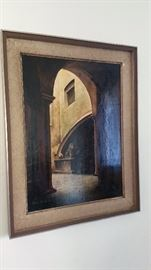 original oil painting - dated '74 signed Vittore Cecchi
